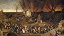 Detalle de «El infierno» de Peeter Huys
