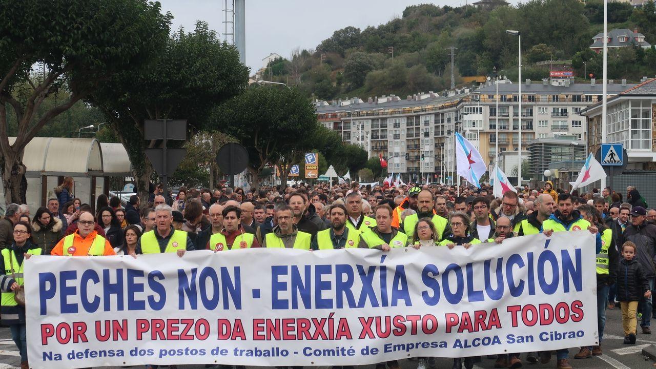 La ministra para la Transición Ecológica en funciones, Teresa Ribera, y el presidente de la Federación Asturiana de Empresarios (FADE), Belarmino Feito,