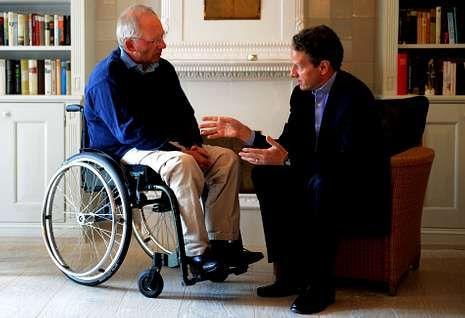 Schäuble y Geithner se reunieron ayer en una isla alemana para estrechar su cooperación.