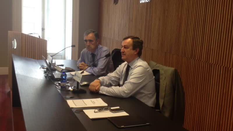 Rueda de prensa de Jose María Castellano y César González Bueno.González-Bueno y José María Castellano se muestran confiados con el éxito del proyecto, que calificaron de vital para Galicia