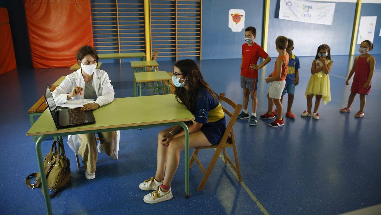 Programa de conciliación en el colegio de A Ramallosa, en Teo