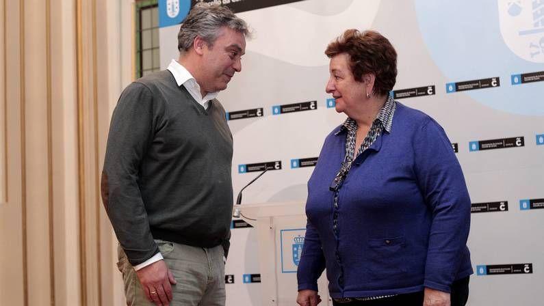 Nonito Pereira y Ana Fernández en la rueda de prensa