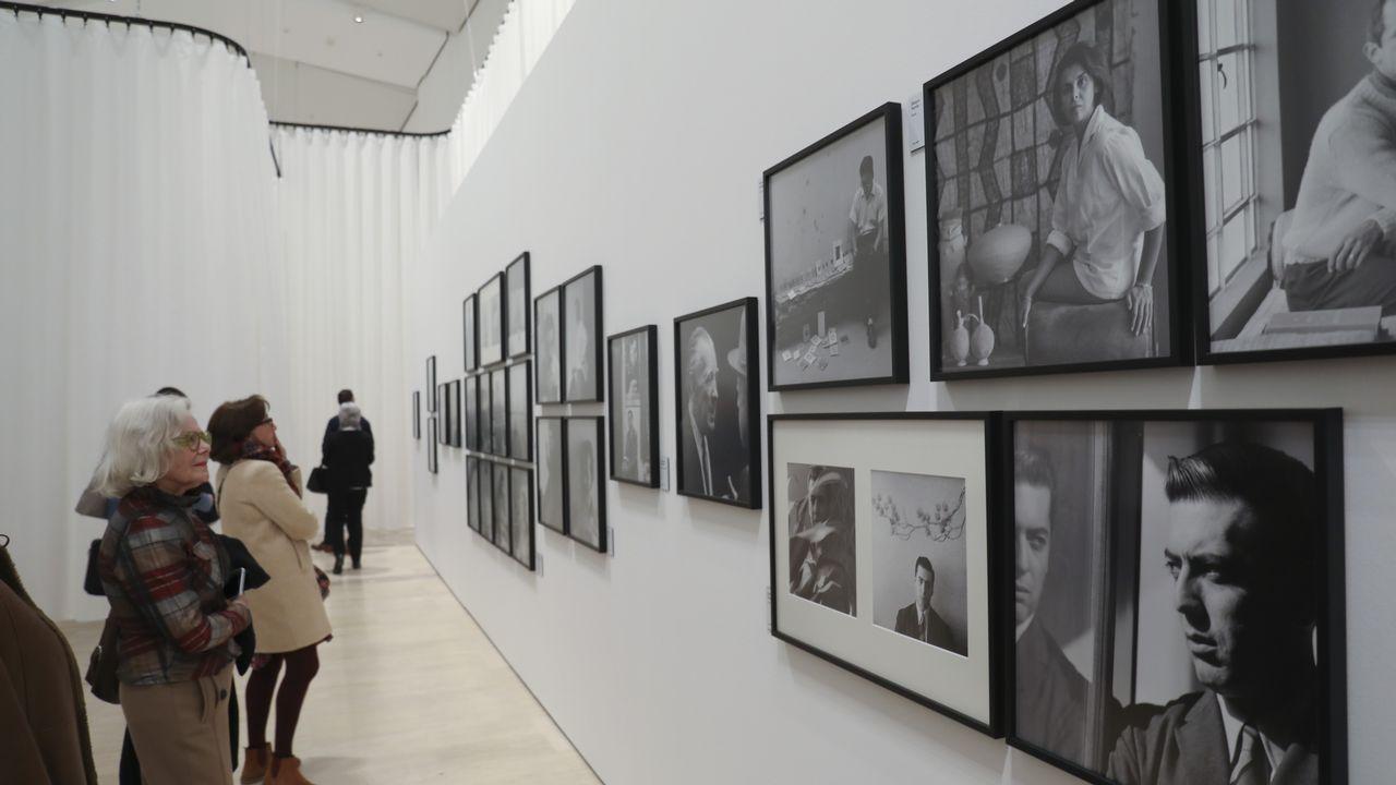 Detalle de la exposición de Pestana inaugurada ayer en el Gaiás