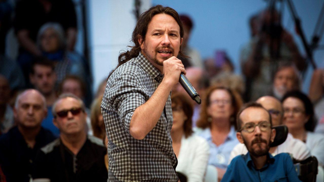 Pablo Iglesias, en un acto de precampaña en Madrid
