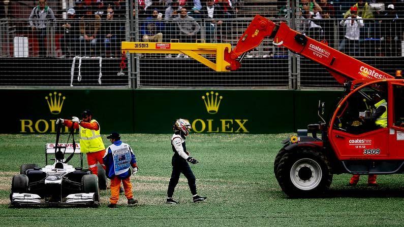 El GP de Australia, en imágenes.El abandono de Pastor Maldonado en Australia