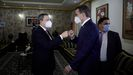 El primer ministro italiano, Mario Draghi, coincidió en Trípoli con su homólogo griego, Kyriakos Mitsotakis.