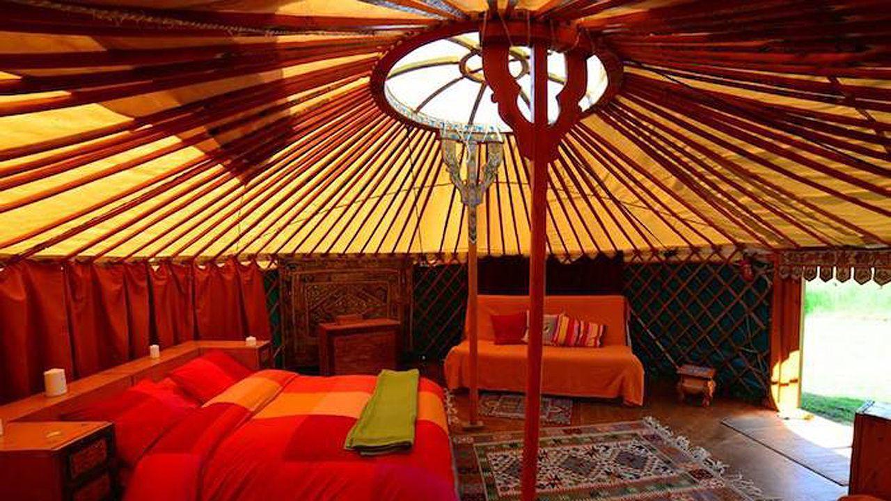 Cabaña inspirada en Mongolo de El Toral Ecofarm