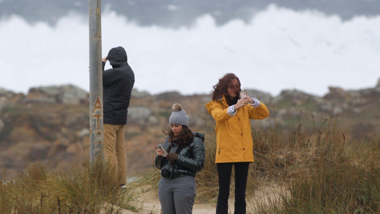 Captando el espectáculo del temporal en Doniños