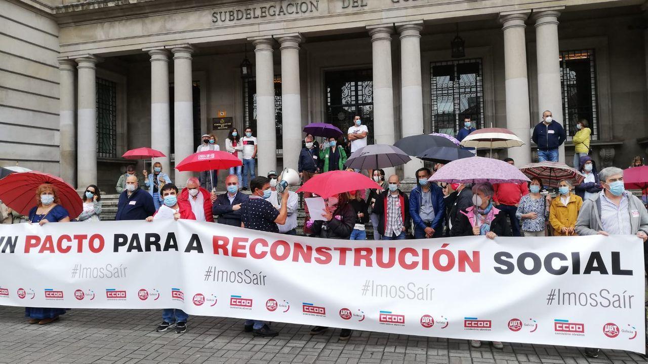 Movilización de UGT y CC.OO. por la reconstrucción social