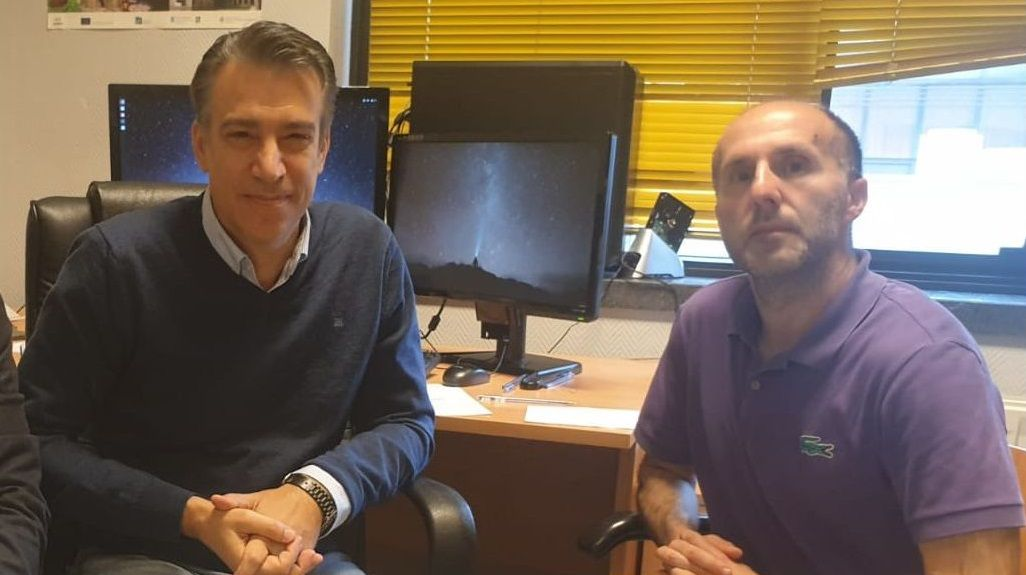 David Olivieri, con Gonzalo Pérez Jácome