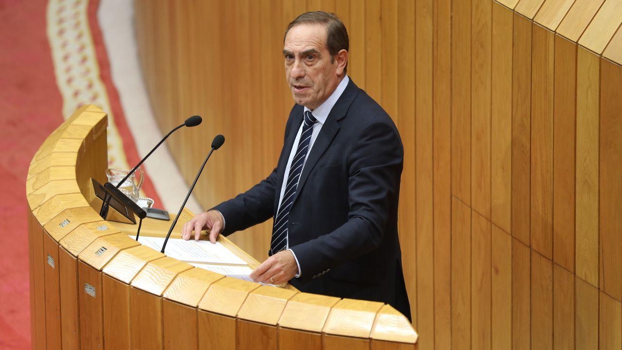 Valeriano Facenda, conselleiro de Facenda, en su comparecencia en el Parlamento