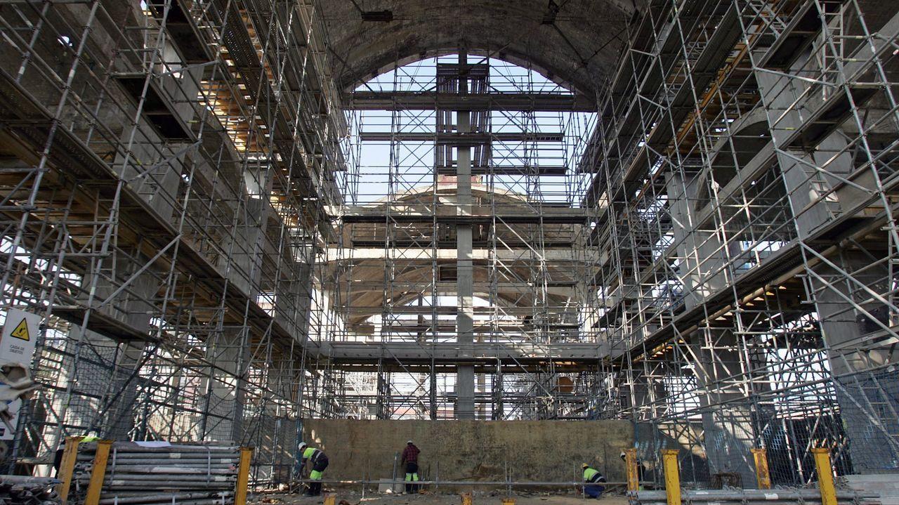 Trabajos realizados en el 2011 para consolidar las estructuras de la Cros