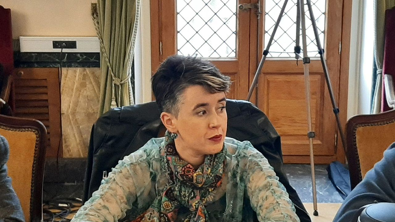 Lucía Falcón, concejal del Ayuntamiento de Oviedo