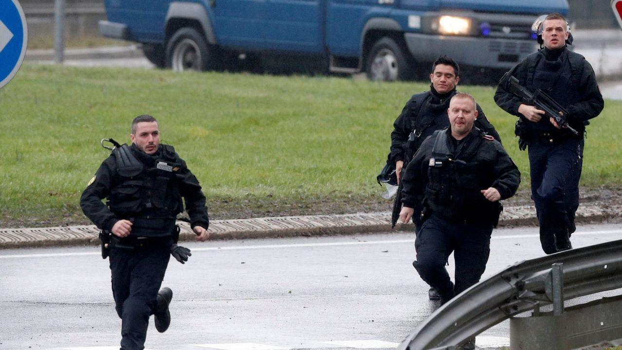 Policias franceses, en una imagen de archivo