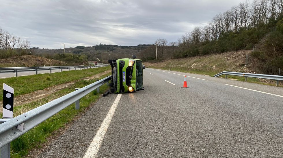 El accidente tuvo lugar en la A-52