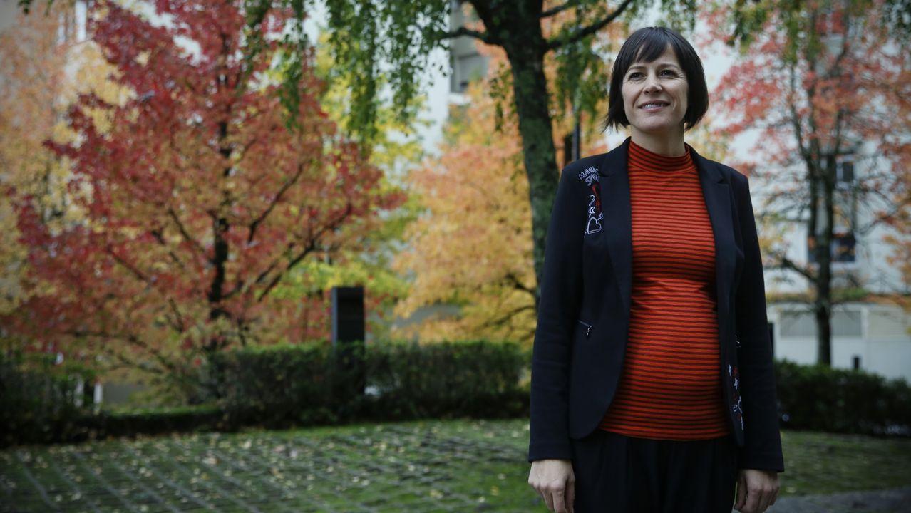La normalidad del 10N en Santiago.Ana Pontón, portavoz nacional do BNG