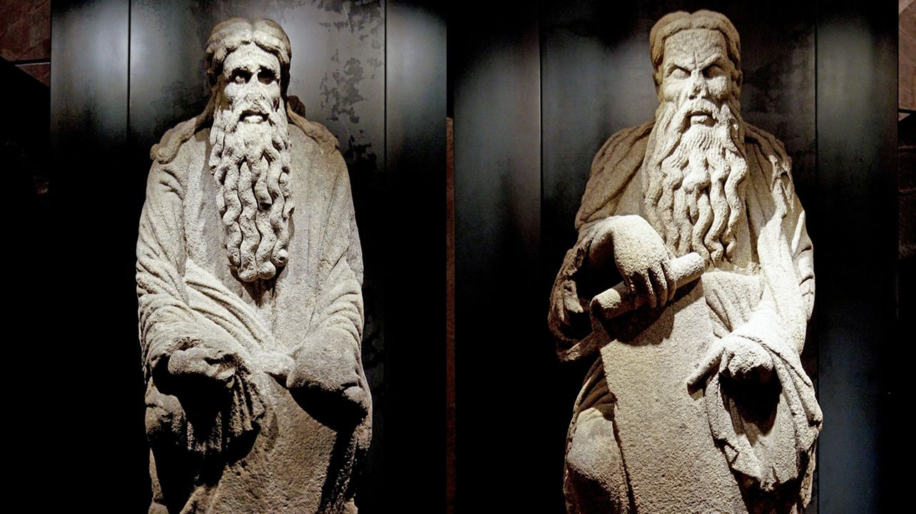 Esculturas de Abraham e Isaac