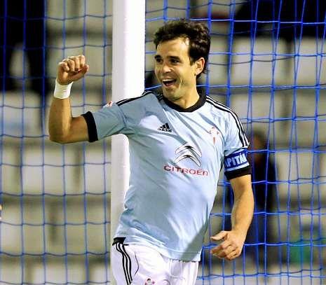 Borja Oubiña finalizará 2013 como el futbolista del Celta que más minutos ha tenido.