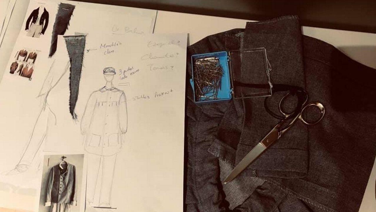 Deseños de vestiario para a adaptación teatral do libro