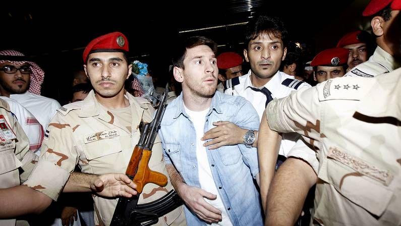 Messi, custodiado en Arabia