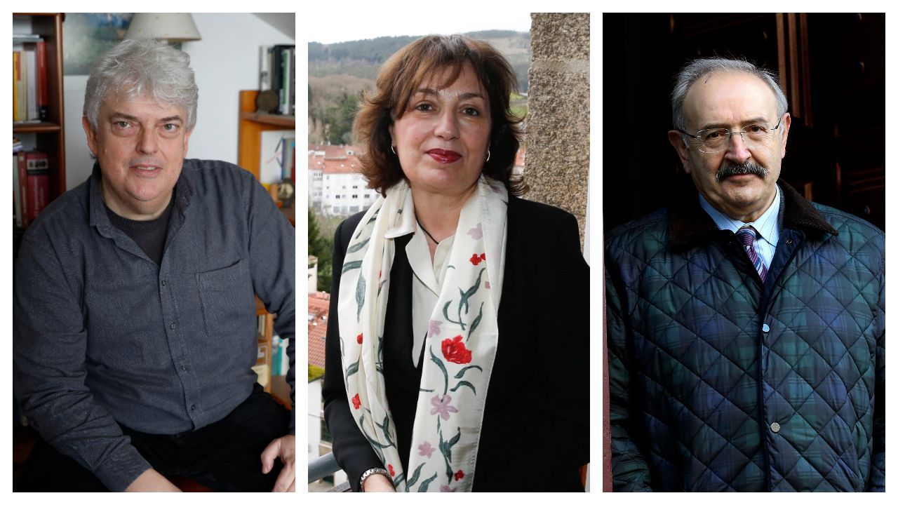 Xosé M. Núñez Seixas, Isabel Buriel y Ramón Villares