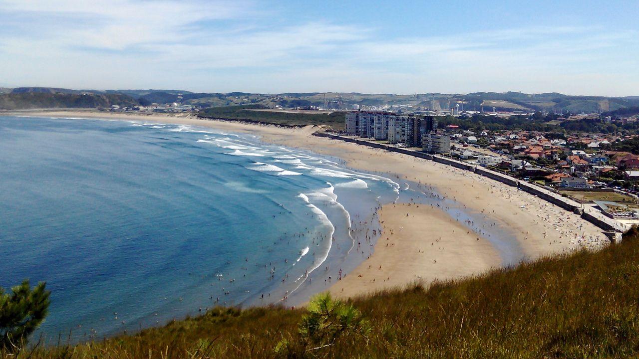 Salinas, Castrillón, playa, Asturias,.Carme Forcadel,  Oriol Junqueras, Josep Maria Jové, y Lluís Salvadó