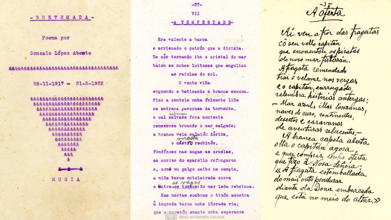 Poemas mecanoscritos e manuscritos de López Abente