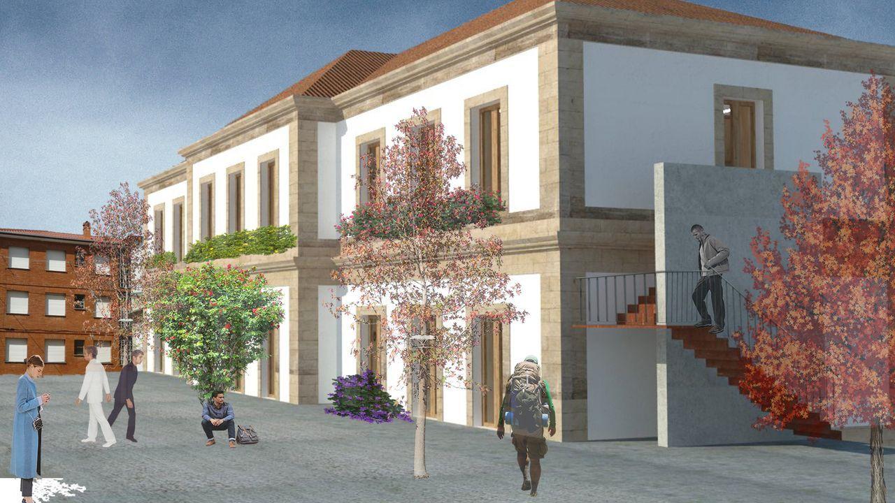 El Calvo Xiria-Carnes do Ribeiro, en imágenes.Recreación del proyecto de rehabilitación de la estación de Ribadavia