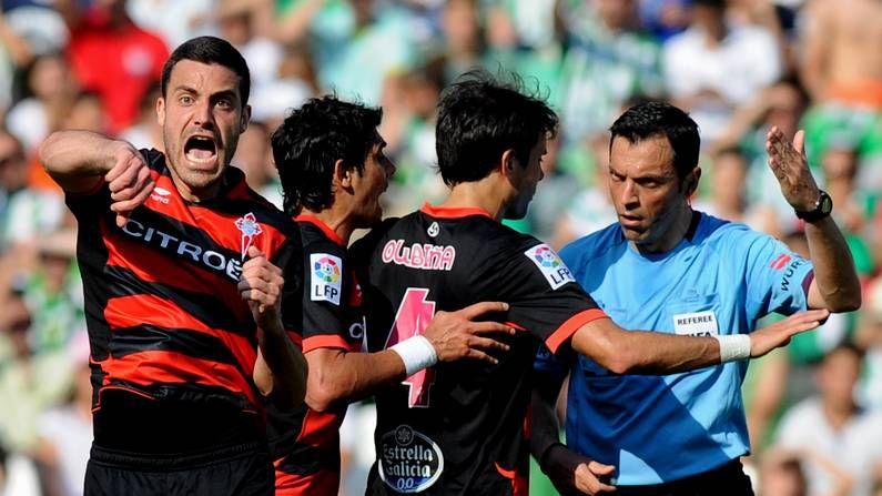 Fotos: Betis 1 - Celta 0.Túñez protesta la anulación del gol