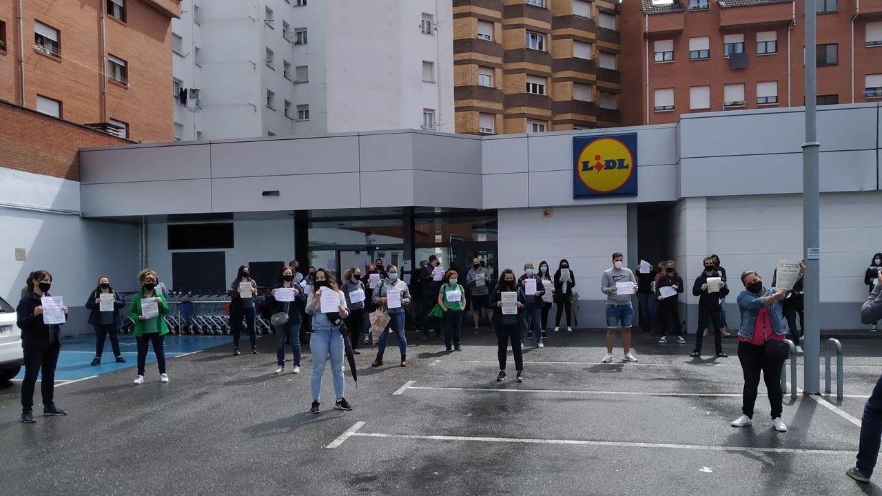 Trabajadores de Lidl en Asturias