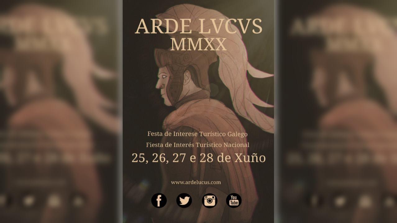 TRABALLO QUE PARTICIPA NO CONCURSO DO CARTEL ANUNCIADOR DA FESTA DO ARDE LUCUS 2020