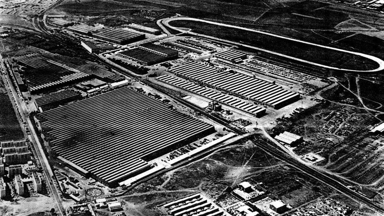 Vista aérea de la factoría de Barreiros Diésel, en Villaverde (1966)