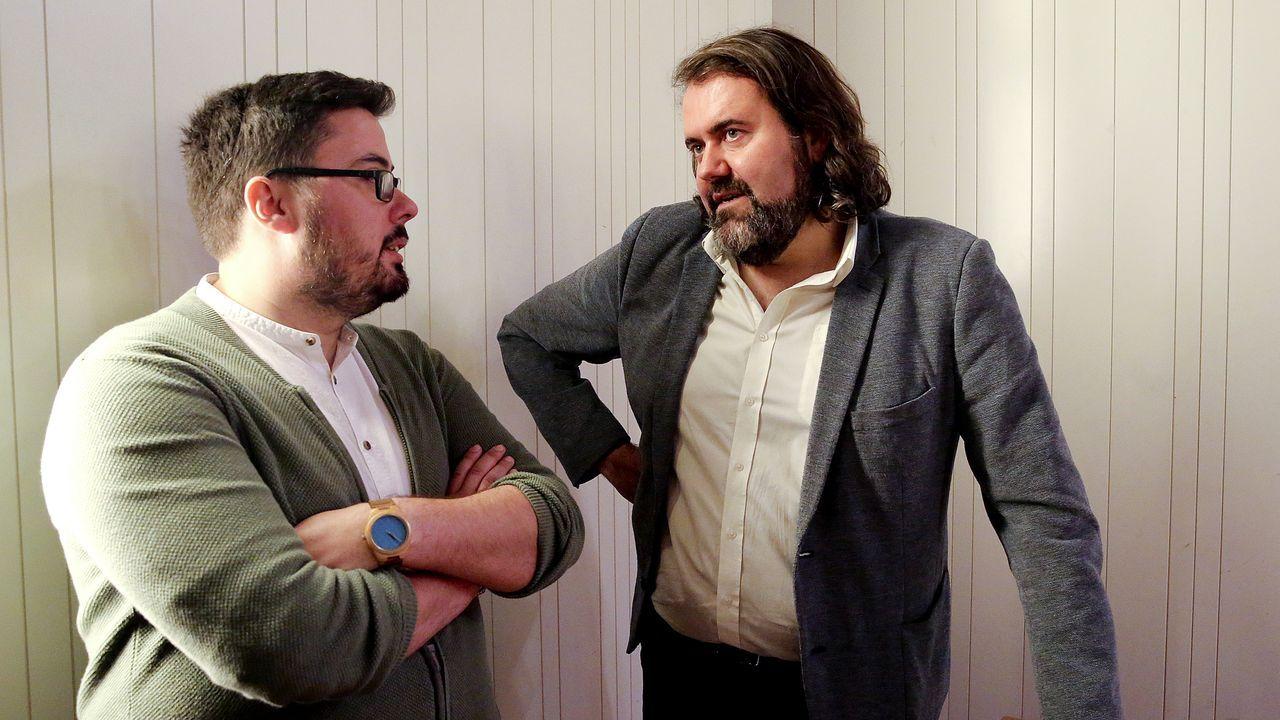Xabier Pérez Igrexas (BNG) y Rubén Pérez (Marea)