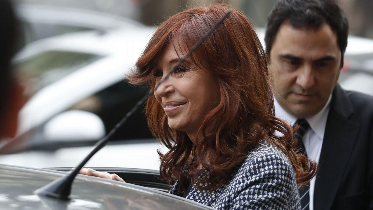 Concentraciones del 8M .La expresidenta argentina saliendo de los tribunales el pasado mes de septiembre