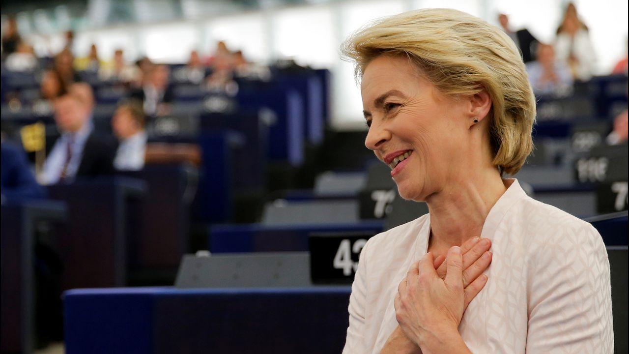 Ursula Von der Leyen celebró aliviada el resultado de la votación del Parlamento Europeo