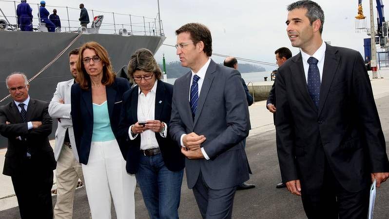 A la izquierda, Abeladro Ulloa, jefe de la Policía Local de Ourense. A la derecha, el empresario vigués Javier Anchelergues.