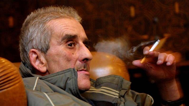 Leopoldo María Panero, en Lugo en una foto del 2003