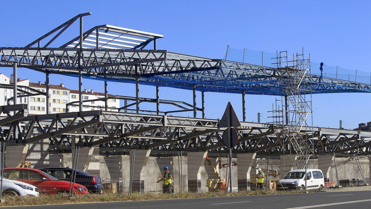 Viaducto cerca de la estación de Santiago
