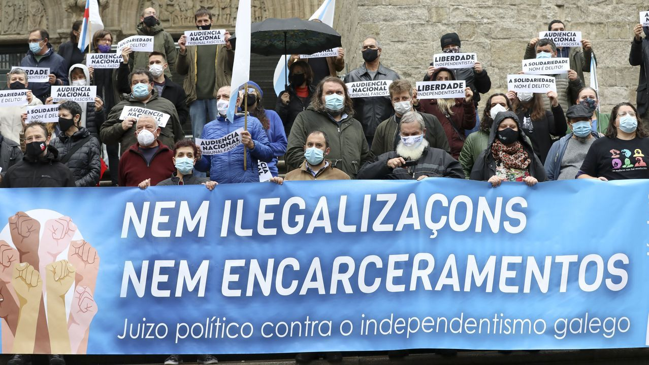 Registro de la casa de dos máximos dirigentes de Resistencia Galega en el año 2019