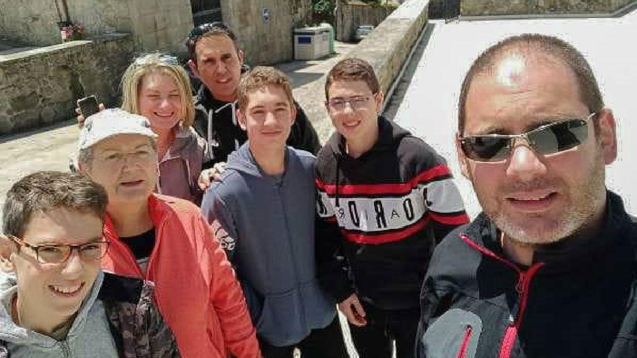 Un grupo de usuarios que participaron recientemente en los juegos de escape del programa «Búskalo en la Ribeira Sacra»