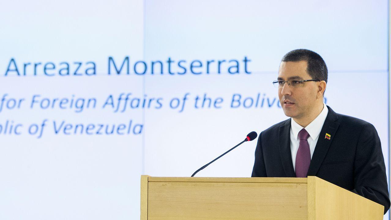 Jorge Arreaza, durante su intervención en Ginebra