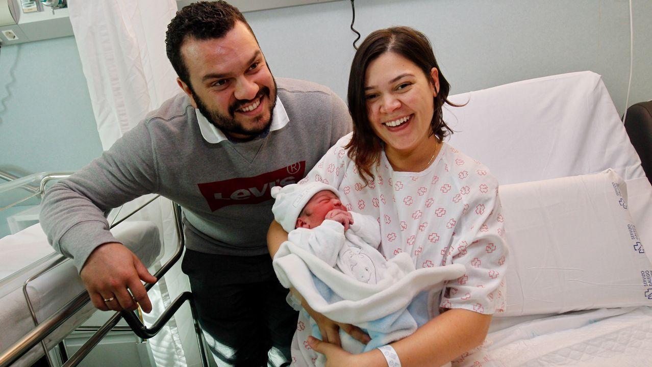 Luca nació en el CHUS aunque sus padres viven en Lalín