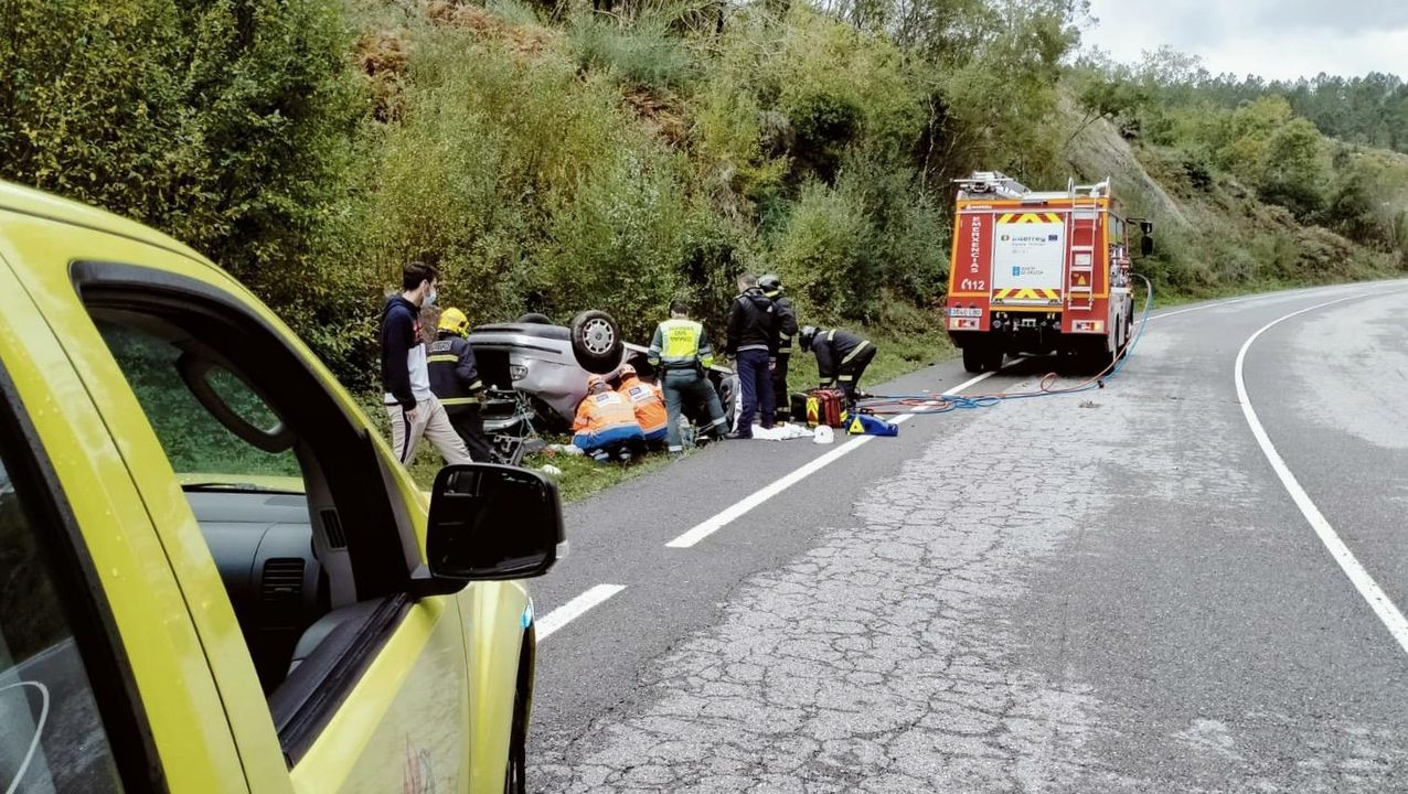 En la Ou-540 se registró un accidente a las 14.30 horas de este domingo