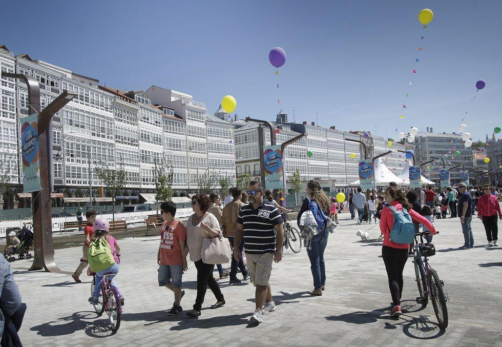 Fiesta infantil celebrada hace unos días en la parte de la Marina abierta al público.