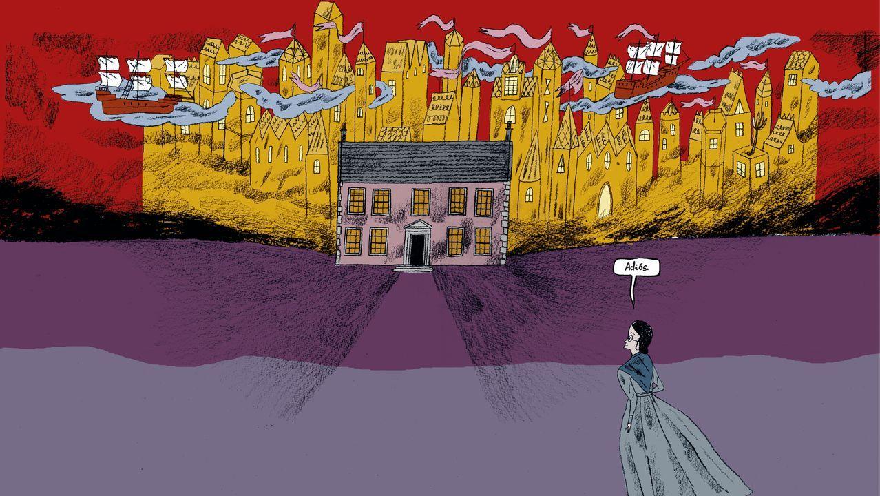 Una cuarentena con las Brontë.Pino vive con su familia en A Coruña. Las noticias, las redes sociales y Skype son la ventana a su casa