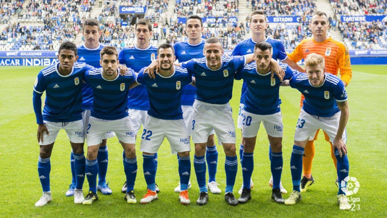 Gol Folch Javi Hernandez Real Oviedo Albacete Carlos Tartiere.Alineación del Real Oviedo ante el Albacete
