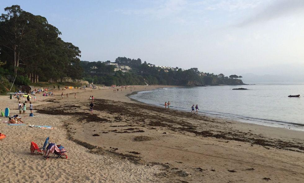 Los bañistas se quejan de la presencia de algas secas que el servicio de limpieza no retira.