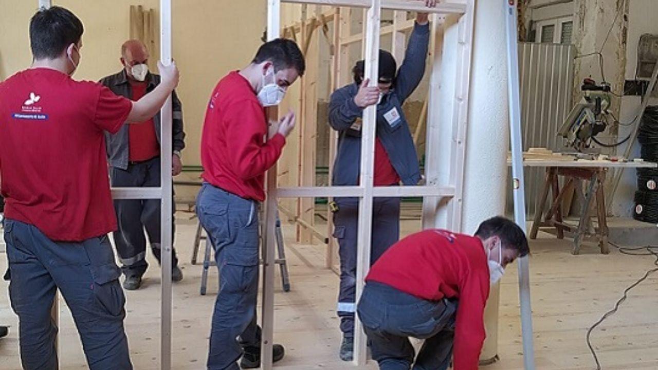 Escuela taller del Ayuntamiento de Gijón, en la 'nueva' normalidad