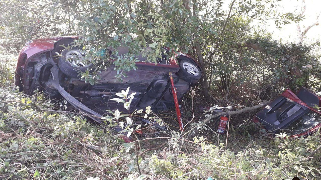 Accidente de tráfico en Colunga