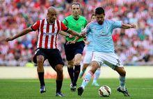 Nolito y Mikel Rico en un Athletic-Celta